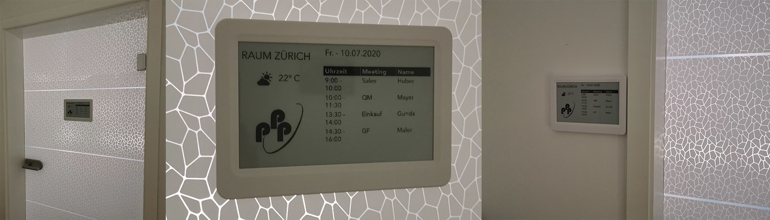 Batterieloses E-Ink-Display